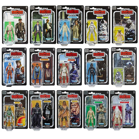 Hasbro Star Wars TESB Empire Strikes Back 40th Anniversary Complete Set 15 Figure Bundle box package front