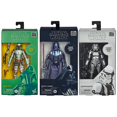 Hasbro Star Wars Carbonized Empire 40th Anniversary 3-figure bundle box package front
