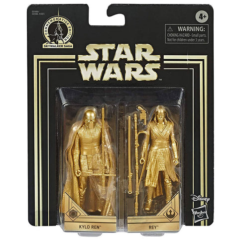 Hasbro Star Wars Skywalker Saga Commemorative Edition Gold Kylo Ren & Rey Walmart Exclusive box package front