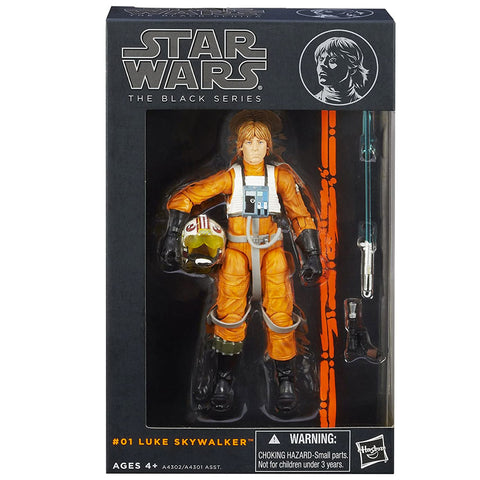 Hasbro Star Wars The Black Series 2013 01 Luke Skywalker X-wing Pilot Box Package Front
