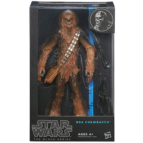 Hasbro Star Wars The Black Series 04 Chewbacca wookie blue box package front