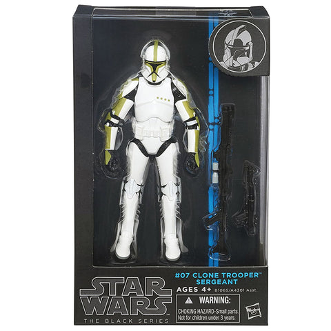 Hasbro Star Wars The Black Series 07 Clone Trooper Sergeant Blue Box Package front
