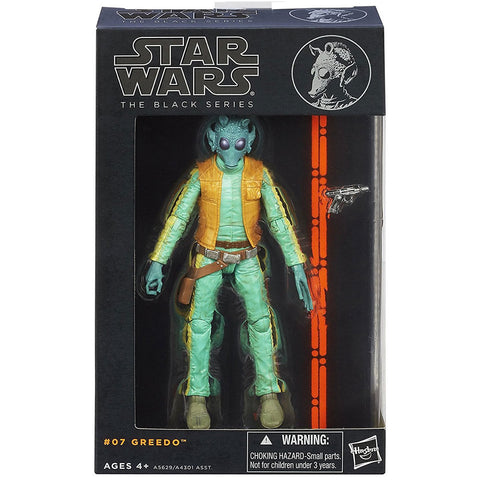 Hasbro Star wars The Black Series 07 Greedo box package front