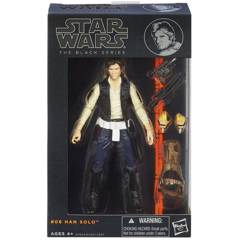 Hasbro Star wars The Black Series 08 Han Solo Box package front
