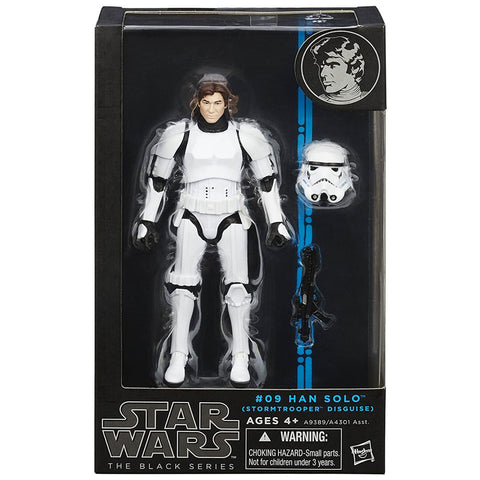 Hasbro Star Wars The Black Series 09 Han Solo Stormtrooper Disguise Blue Box Package Front