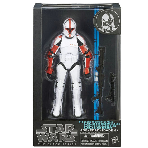 Hasbro Star Wars The Black Series 13 Clone Trooper Captain blue box package front