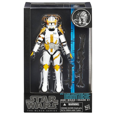 Hasbro Star Wars The Black Series 14 Clone Commander Cody blue box package front