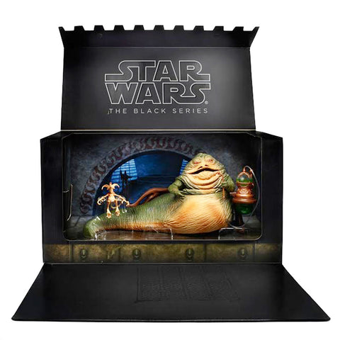 Hasbro Star Wars The Black Series SDCC 2014 Jabba The Hutt's Throne Room with Salacious Crumb Giftset Box package open