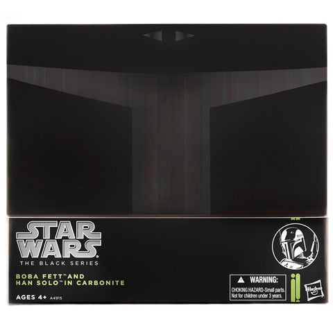 Hasbro Star Wars The Black Series SDCC 2013 Boba Fett & Hand Solo in Carbonite Giftset Box package Front