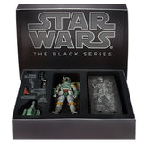 Hasbro Star Wars The Black Series SDCC 2013 Boba Fett & Hand Solo in Carbonite Giftset Box package Open