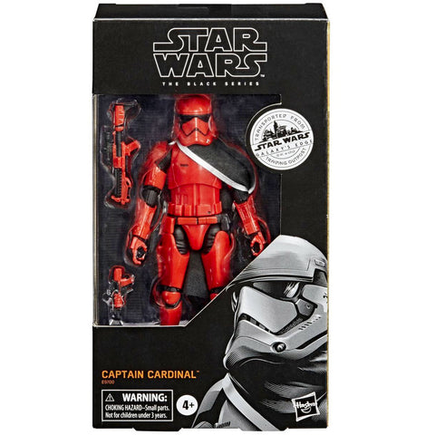 Hasbro Star Wars The Black Series Galaxy's Edge Outpost Captain Cardinal Red stormtrooper target exclusive box package front