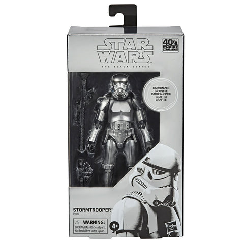 Hasbro Star Wars The Black Series Carbonized Collection Stormtrooper Silver Box Package Front