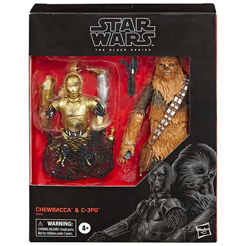 Hasbro Star Wars The Black Series Empire Strikes Back 40th Anniversary Chewbacca & C-3PO 2-pack bespin giftset box package front