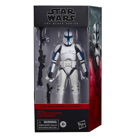 Hasbro Star Wars The Black Series Phase I Clone Trooper Lieutenant walgreens exclusive box package front