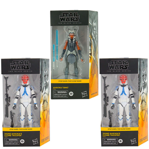 Hasbro Star Wars The Black Series Clone Wars Ahsoka 332nd Clone Trooper bundle box package front