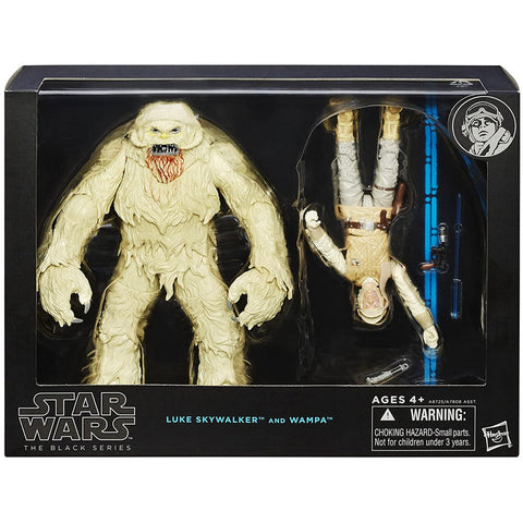 Hasbro Star Wars The Black Series Deluxe Luke Skywalker and Wampa Hoth box package front