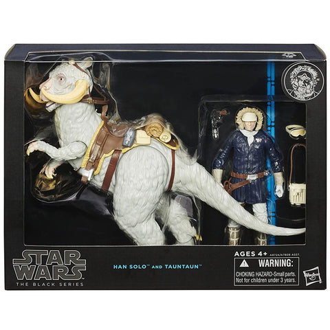 Hasbro Star Wars The Black Series Deluxe Han Solo and tauntaun hoth box package Front