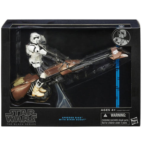 Hasbro Star wars The Black Series Deluxe Speeder Bike with Biker Scout vehicle Box package front