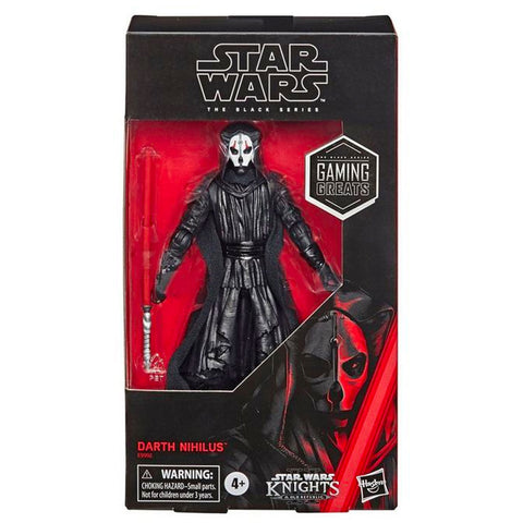 Hasbro Star Wars The Black Series Gaming Greats Darth Nihilus Knights of the old Republic gamestop exclusive box package front