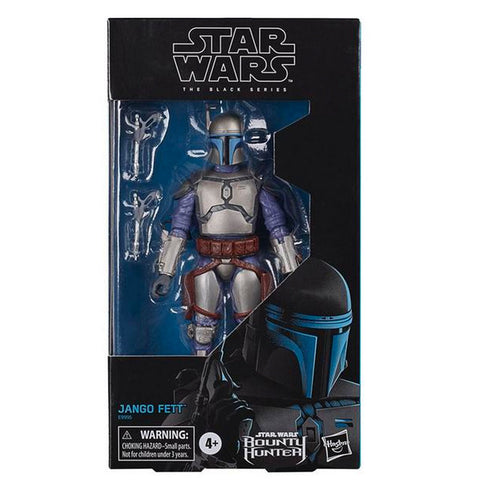 Hasbro Star Wars The Black Series Gaming Greats Jango Fett Bounty Hunter video game box package front gamestop