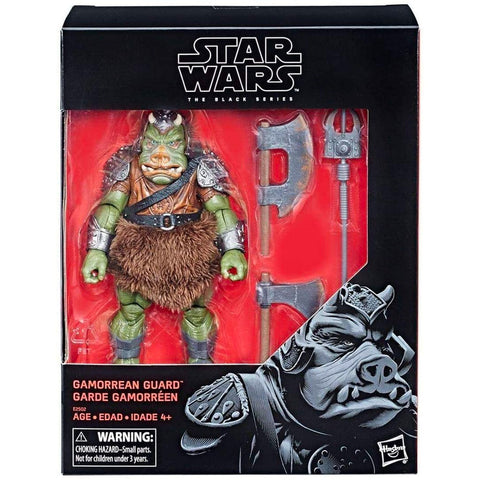 Hasbro Star wars The Black Series Gamorrean Guard ROTJ deluxe box package front reissue