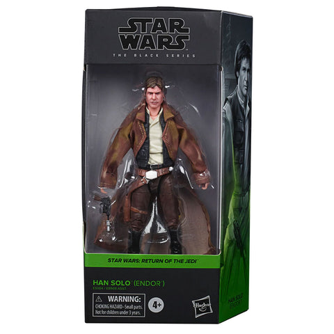 Hasbro Star Wars The Black Series Han Solo Endor Box Package Front