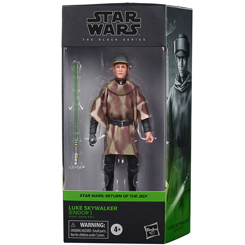 Hasbro Star Wars The Black Series Luke Skywalker Endor Box Package Front