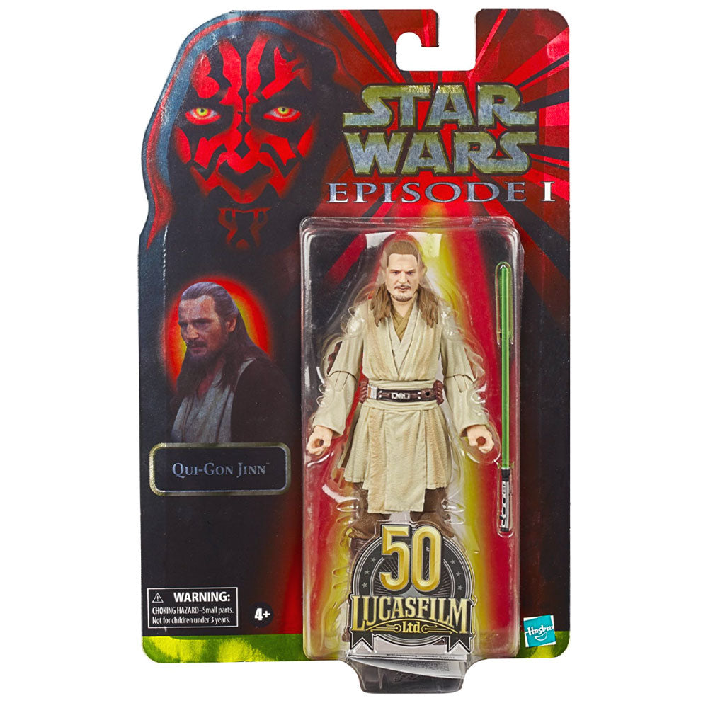 Star Wars The Black Series Qui-Gon Jinn Lucasfilm 50th Anniversary Toy – Collecticon Toys