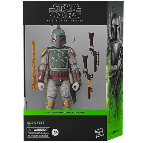 Hasbro Star Wars The Black Series ROTJ Boba Fett Deluxe Box Package Front Render