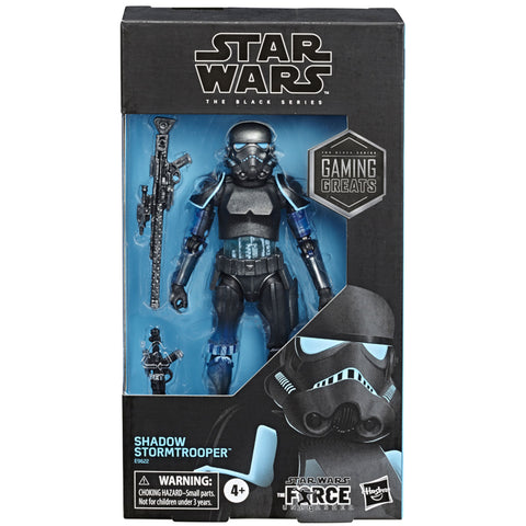 Hasbro Star Wars The Black Series Shadow Stormtrooper Force Unleashed gamestop box package front