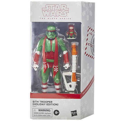 Hasbro Star Wars The Black Series Sith Trooper Holiday edition babu frik best buy exclusive box package front