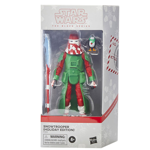 Hasbro Star Wars The Black Series Snowtrooper Holiday Edition Porg Walmart Exclusive Box Package Front