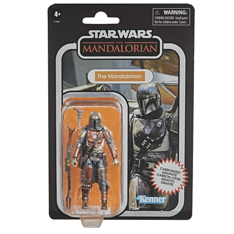 Hasbro Star Wars TVC The Vintage Collection Mandalorian Carbonized Box package front