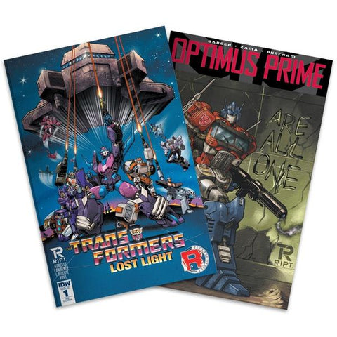Transformers IDW Comics Lost Light Optimus Prime issue 1 Bundle RIPT Apparel Exclusive Tim Lim