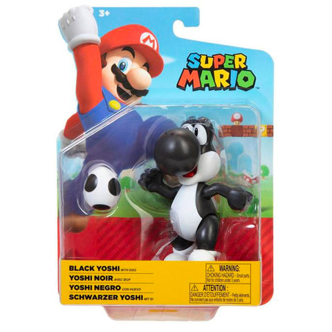 World of Nintendo Super Mario Black Yoshi with Egg - 4-inch