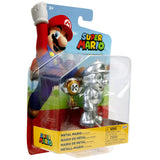 Jakks Pacific World of Nintendo Super Mario Metal Mario with Trophy box package angle