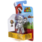 Jakks Pacific World of Nintendo Super Mario Metal Mario with Trophy box package right side