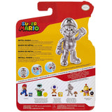 Jakks Pacific World of Nintendo Super Mario Metal Mario with Trophy box package back