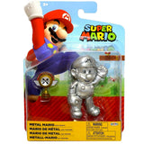 Jakks Pacific World of Nintendo Super Mario Metal Mario with Trophy box package front