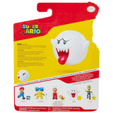 Jakks Pacific World of Nintendo Super Mario Bros. boo with coin 4-inch box package back