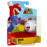 Jakks Pacific World of Nintendo Super Mario Bros. boo with coin 4-inch box package front angle
