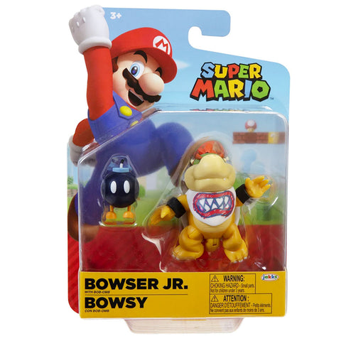 World of Nintendo Super Mario Bowser Jr. with Bob-Omb - 4-inch