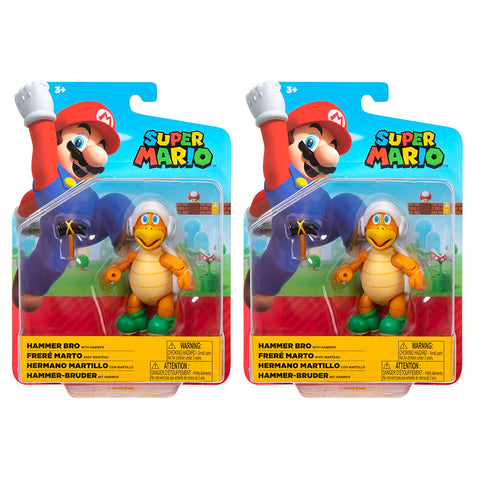 Jakks Pacific World of Nintendo Super Mario Bros Hammer Bro 2-figure bundle 4-inch reissue box package front