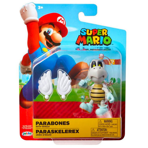 Jakks Pacific World of Nintendo Super Mario Bros Parabones with wings 4inch box package front
