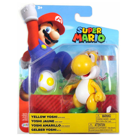 Jakks Pacific World of Nintendo Super Mario Yellow Yoshi with egg box package front