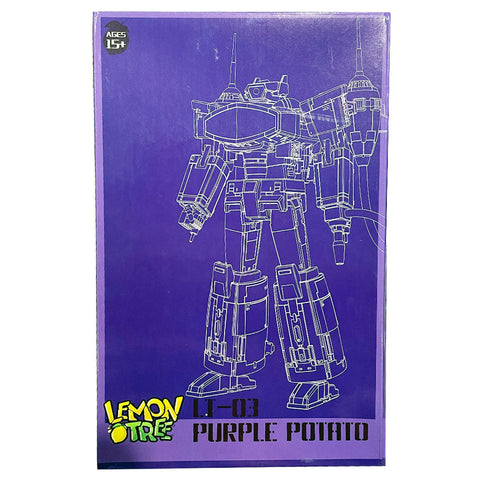 Lemon Tree Toys LT-03 Purple Potato 3P Third Party Shockwave The Revenge Transforming Robot Toy Box Package Front