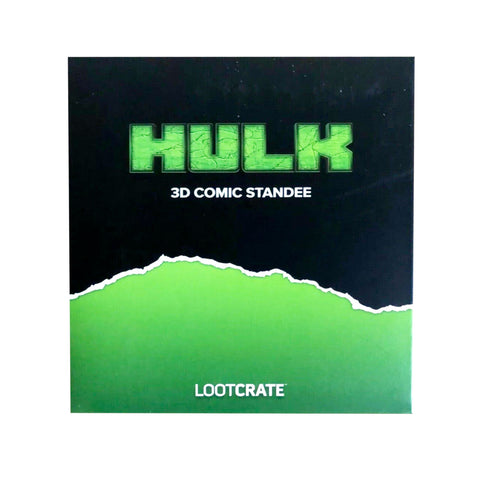 Lootcrate exclusive Hulk 3D Comic standee Box Package