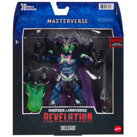 Mattel Masters of the Universe MOTU Relvation Masterverse Skelegod 11-inch box package front