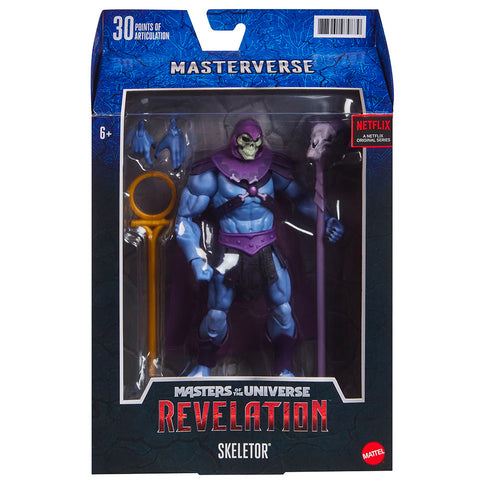 Mattel Masters of the Universe MOTU Relvation Masterverse Skeletor 7-inch box package front