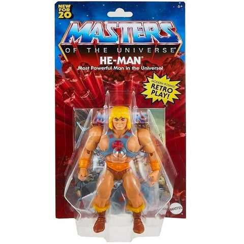 Mattel Masters of the Universe MOTU origins retro play he-man box package front